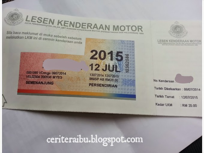 Renew Road Tax di Myeg