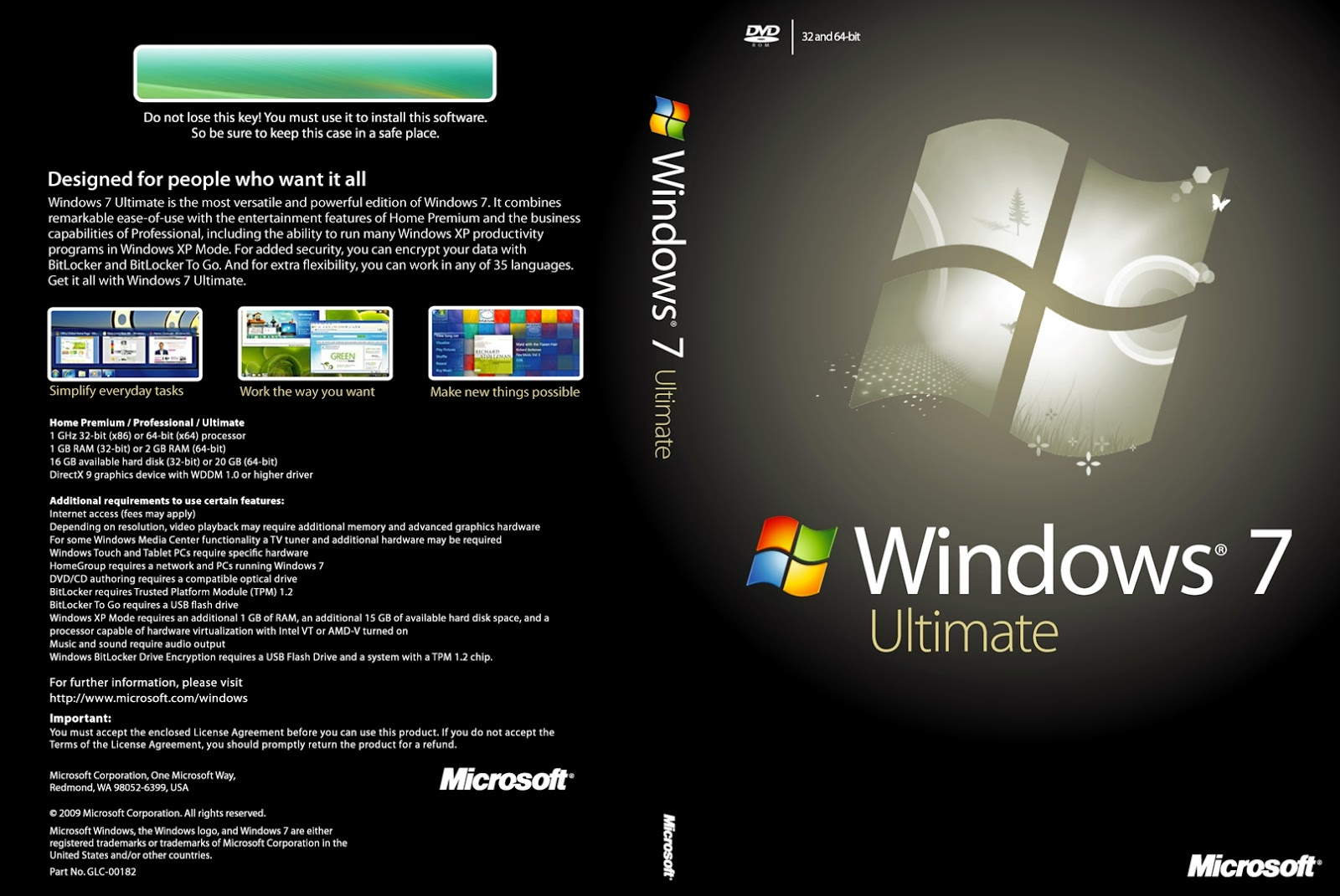 Windows 7 ultimate 3264bits