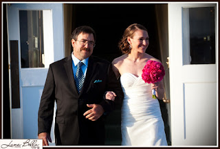 Karen enters with her father, Greg - Ceremony officiated at Patricia Stimac, Seattle Wedding Officiant