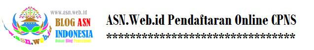 ASN.web.id Pendaftaran Online CPNS