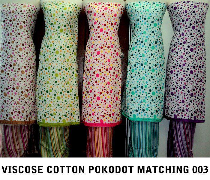 Kain pasang viscose cotton pokodot matching, hrg spsg RM50, belian