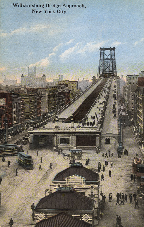 36 Amazing Historical Pictures. #9 Is Unbelievable - Williamsburg Bridge Approach, New York City. Bridge opened Dec. 19, 1903.
