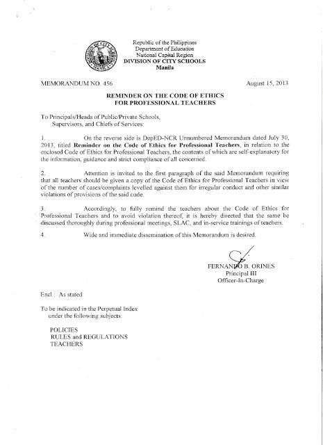 code of ethics for professional teachers pdf