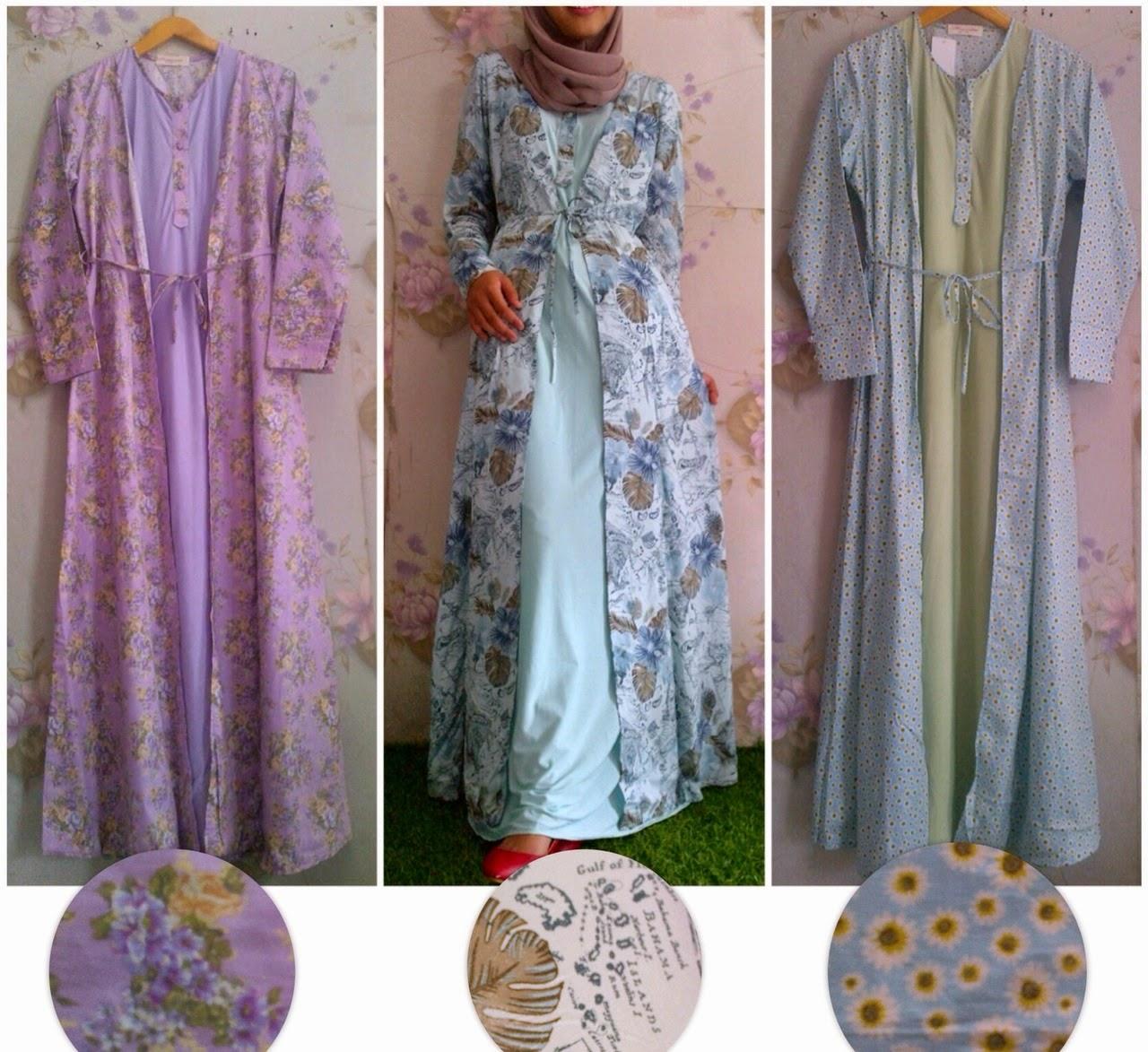 Vkoy boutique supplier butik hijabers Toko baju gamis bahan katun jepang