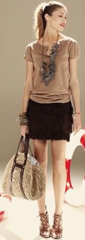 minifalda flecos