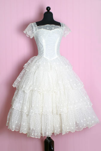 1950′S Lace Tiers Princess Dress from Posh Girl Vintage