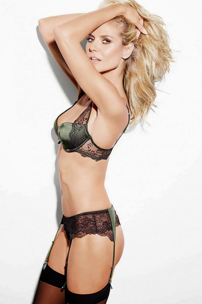 Heidi Klum goes seductive for her lingerie line HK Intimates' Spring/Summer 2015 Lookbook