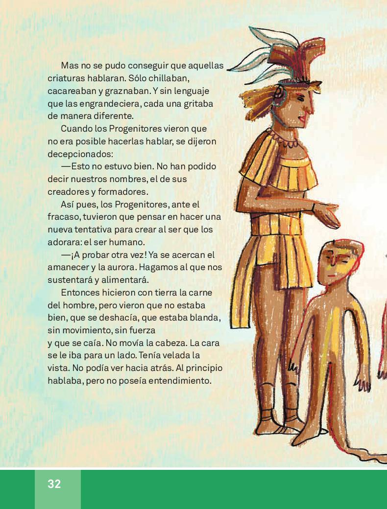 La creación del hombre según los mayas - Español Lecturas 3ro 2014-2015