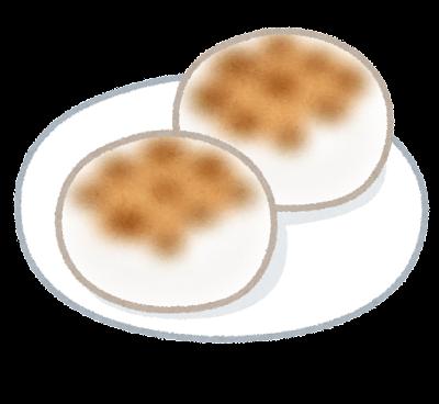 焼いた丸餅のイラスト