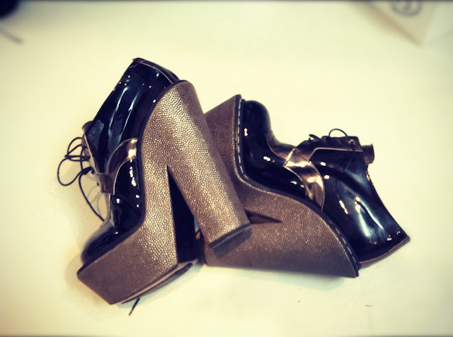 Shoes Amazing Heels CORRADO DE BIASE FALL-WINTER 2012/13 BACKSTAGE PARIS FASHION WEEK READY-TO-WEAR