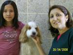 Manuelita con su mami y ralfi
