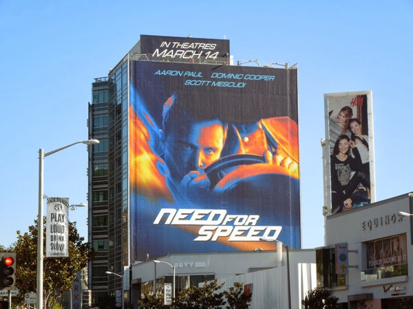Giant Need For Speed movie billboard