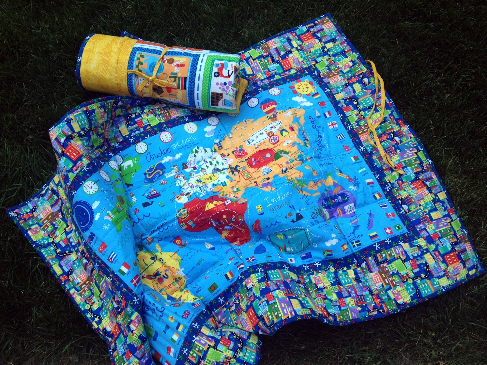 Mighty Distractible Map Of The World Quilt - World map blanket