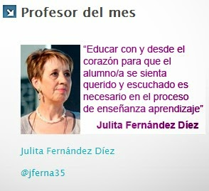 Profesora del mes de mayo 2013