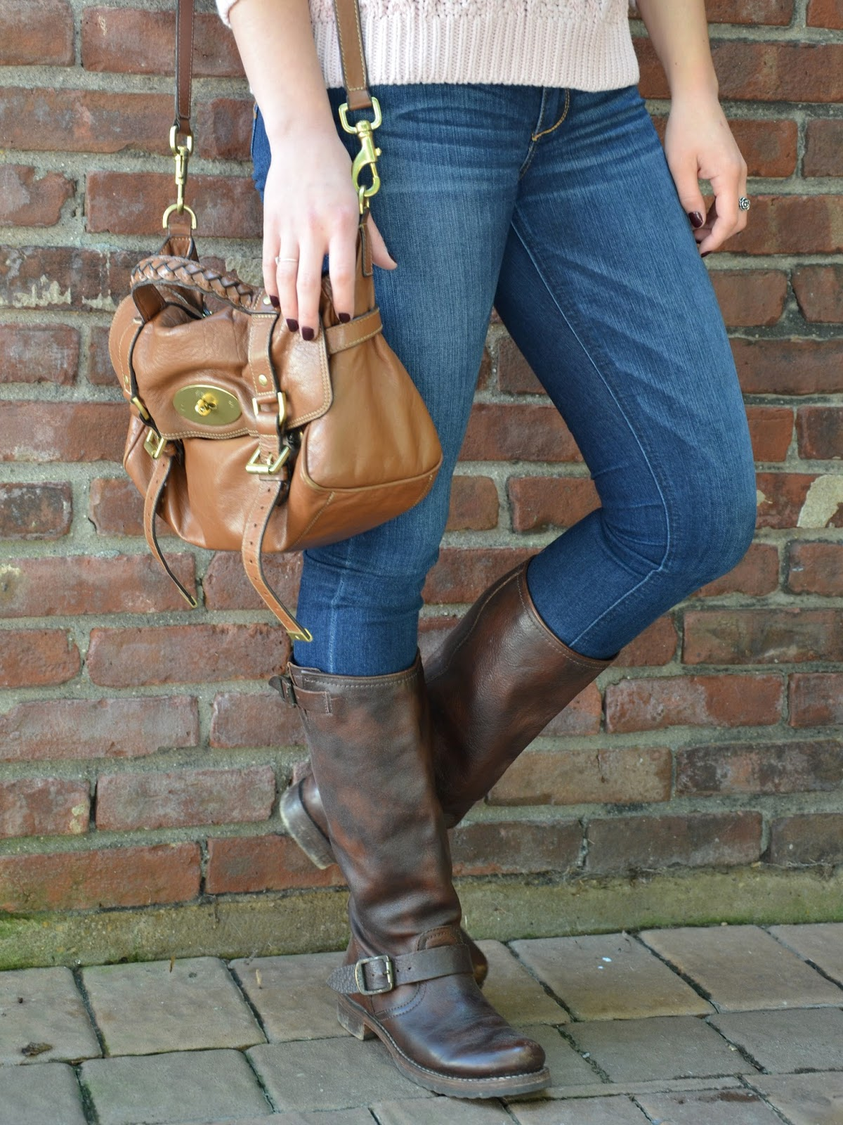 mulberry alexa + frye veronica slouch boots
