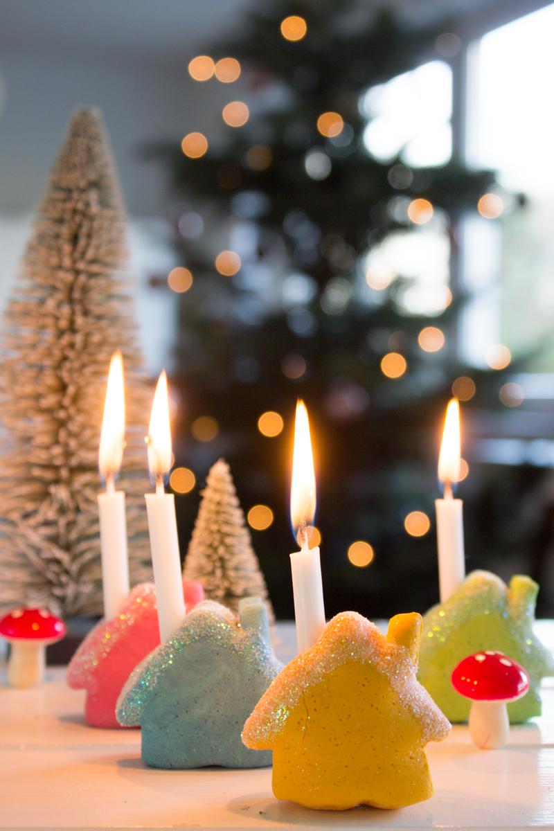 Pfefferminzgruen mini kerzenhalter aus salzteig for Geschenke aus salzteig