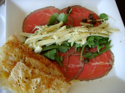 Beef carpaccio at Alma Nove, Hingham, Mass.