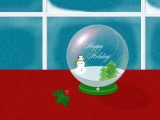 Happy Holidays, kristalna kugla Božićne slike besplatne pozadine za mobitele download