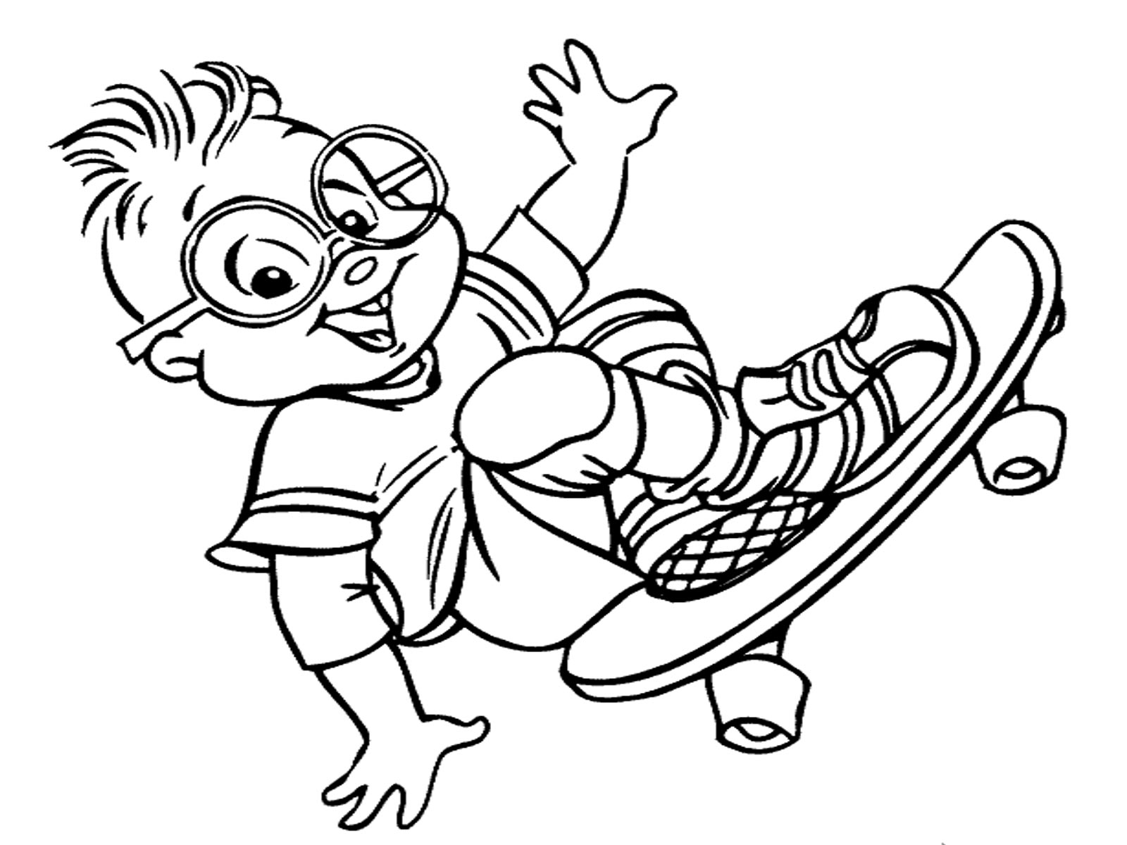 Alvin and the chipmunks coloring pages realistic for Chipmunks coloring pages