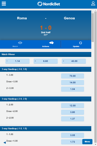 Nordicbet Mobile Offers