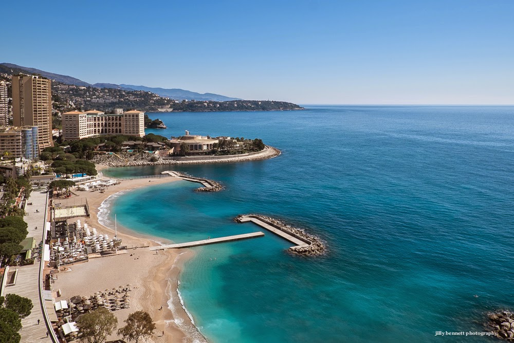 monte carlo weekly photo larvotto beach from the 19th floor. Black Bedroom Furniture Sets. Home Design Ideas
