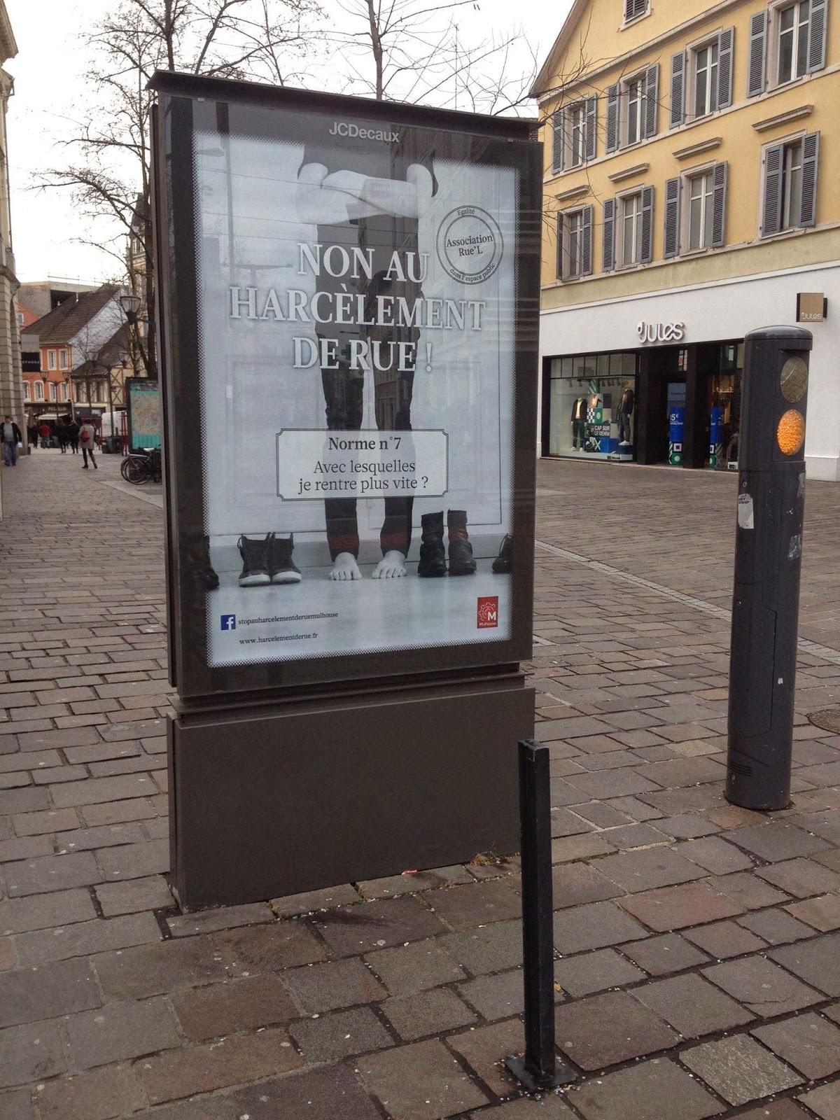 Campagne affiche harcèlement de rue Mulhouse