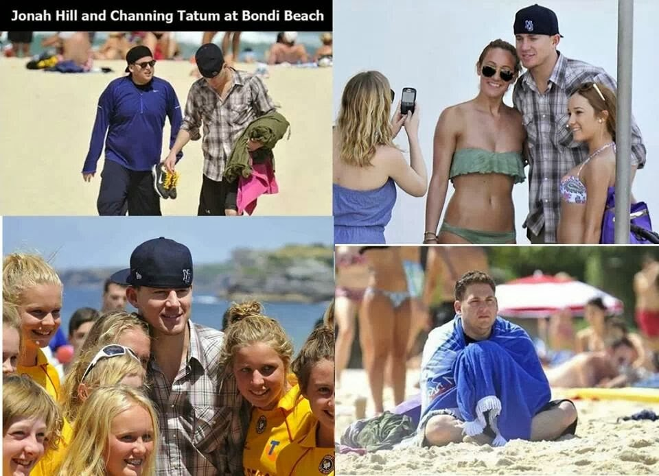 Jonah Hill and Channing Tatum at the Beach