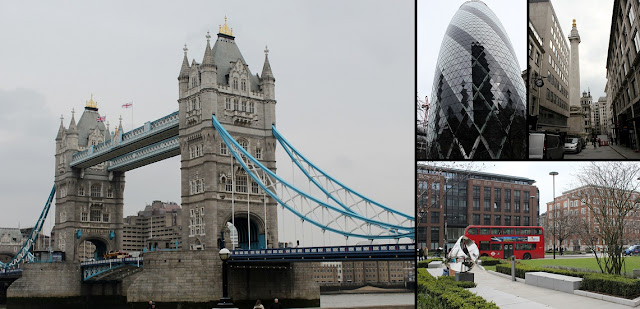 Tower Bridge, The Gherkin, The Monument and beautiful London