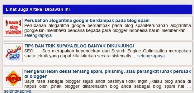 cara membuat related pos atau artikel terkait blog