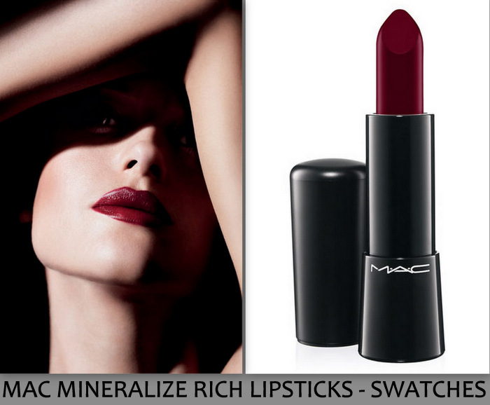 MAC Mineralize Rich Lipsticks New Makeup Collection Indian Beauty Blog Darker Skin Swatches