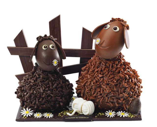 La Maison au Chocolat Ovejas de Pascua chocolate Frisoton Frisette