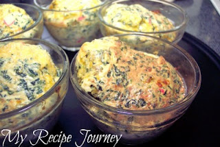 Crab and Spinach Souffle's