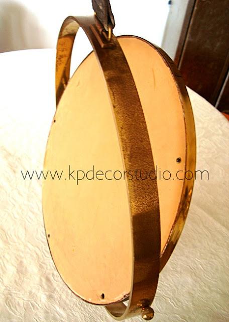 Comprar espejo original de barco antiguo color latón y bronce dorado