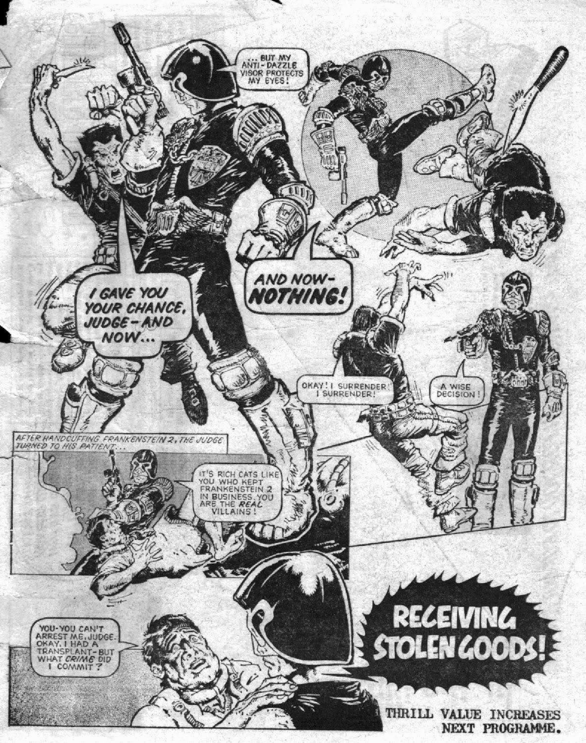 Figure 200: Judge Dredd Is Largely Unreceptive To Requests For Leniency Or  Mercy (written By Malcolm Shaw, Art By Mike Mcmahon, 2000