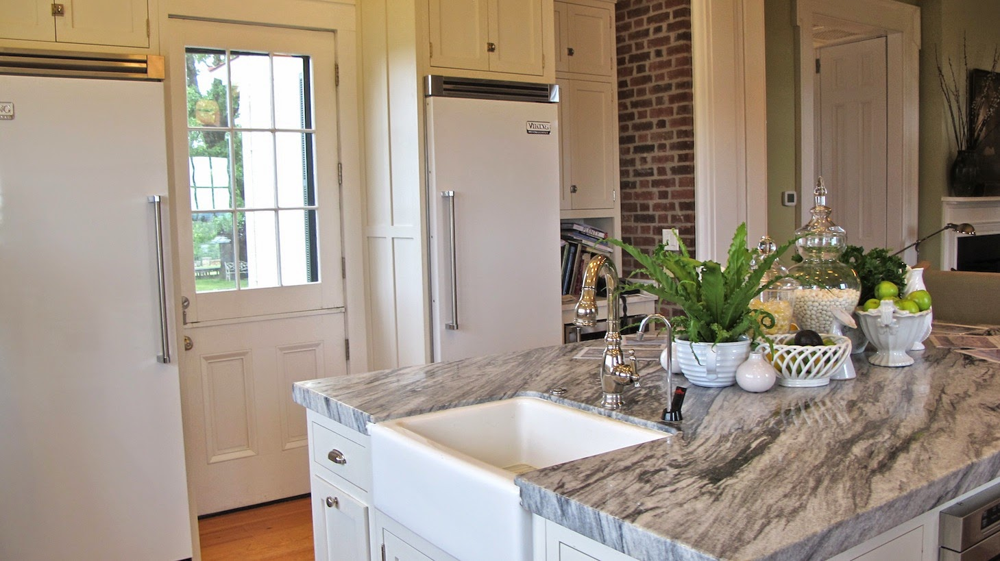P Allen Smith Moss Mountain Garden Home kitchen shot marble (c)nwafoodie