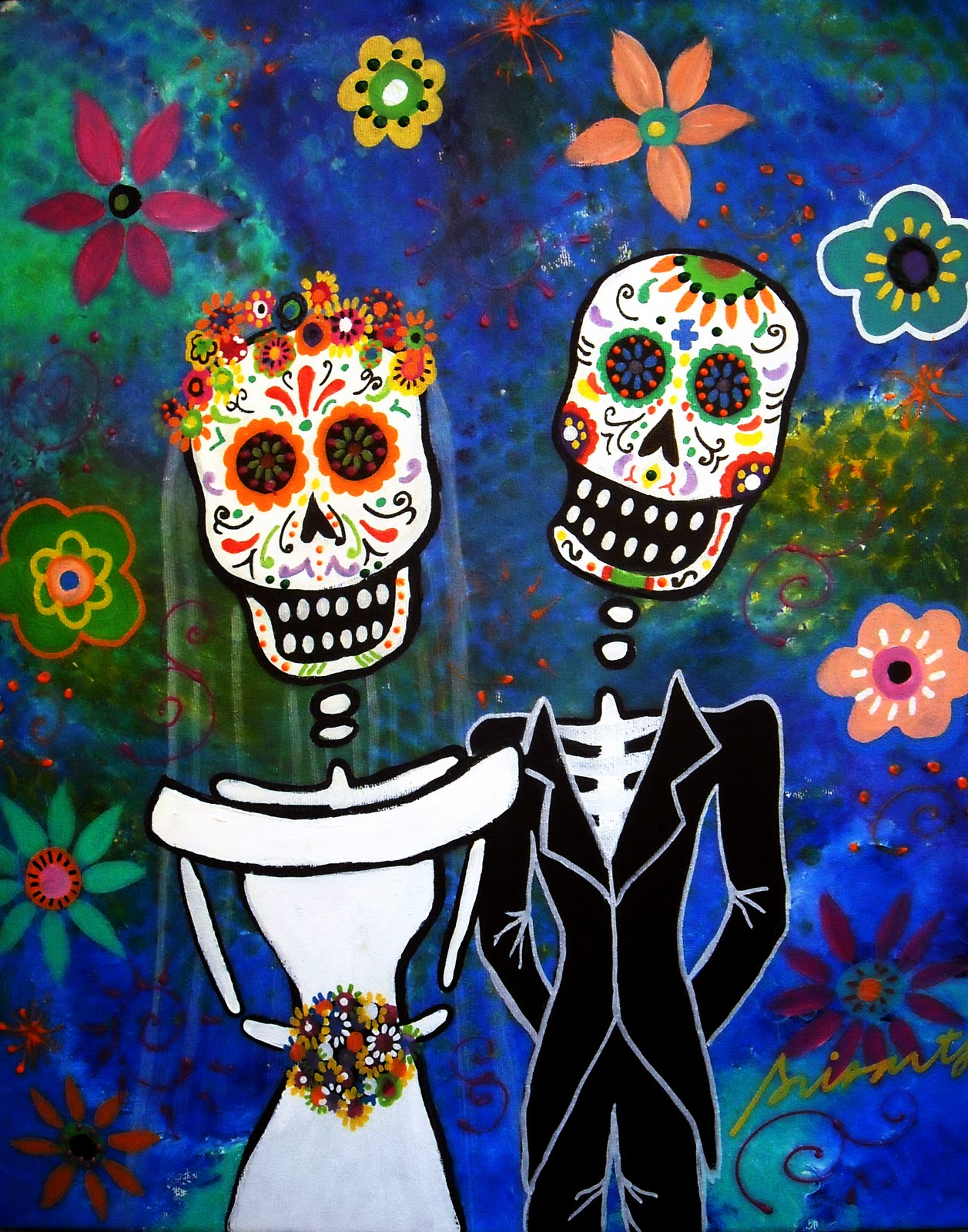 MEXICAN FOLK ART ORIGINAL PAINTINGS BY PRISTINE CARTERA TURKUS