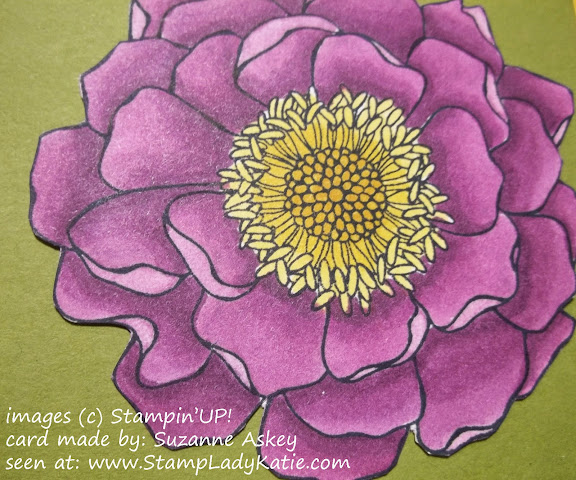 made with Stampin'UP!'s Blended Bloom stamp and colored with the new Blendability alcohol markers.