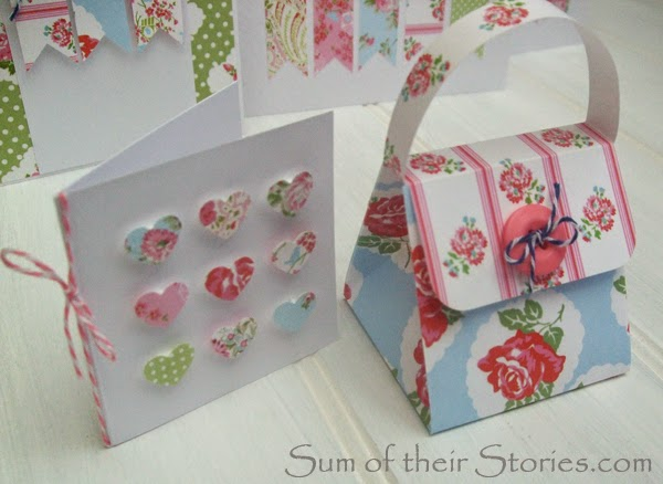 floral handmade card and gift box
