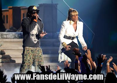 fotos de la actuacion de lil wayne y mary J. blige en los billboard music awards