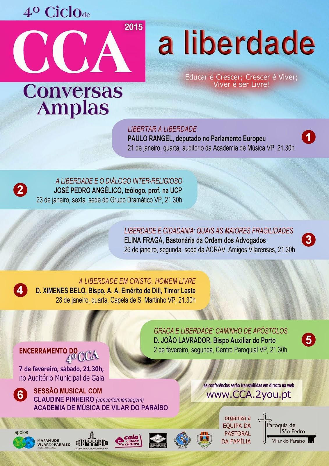 4º CICLO DE CONVERSAS AMPLAS
