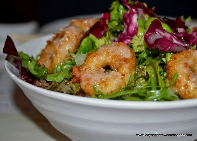 calamari salad at Chez Sushi Dubai Marina