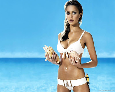 Jessica Alba Mouthwatering Wallpaper