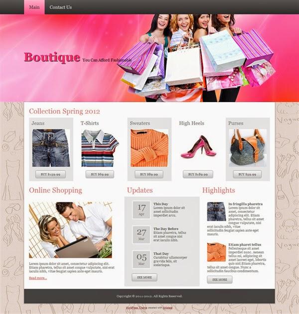 Boutique - Free Wordpress Theme