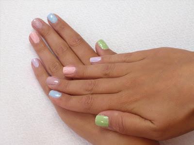 Seche Polishes pastels manicure