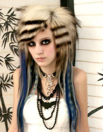 Windy Hairstyle Gothic Hairstyles Short Gothic Hairstyles