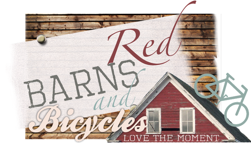 red barns and bicycles
