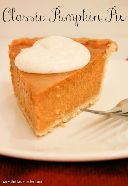 Classic Pumpkin Pie www.the-taste-tester.com