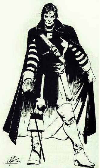 Dibujo de Solomon Kane por Howard Chaykin