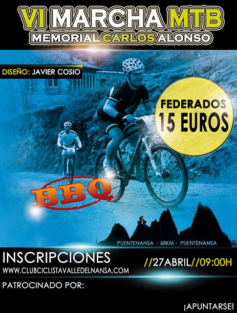 Cartel VI Marcha MTB Valle del Nansa (Ciclismo)