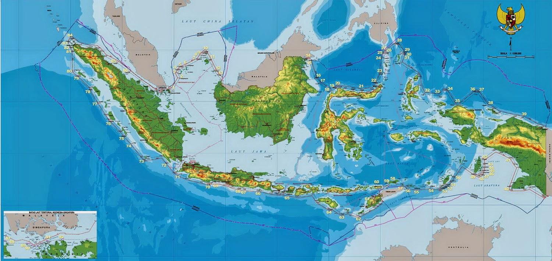 Materi Bahasa Inggris Tentang Geografi Geography Indonesia Gambar Peta Letak